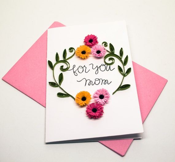 Mother Greeting Card Floral For Mom You