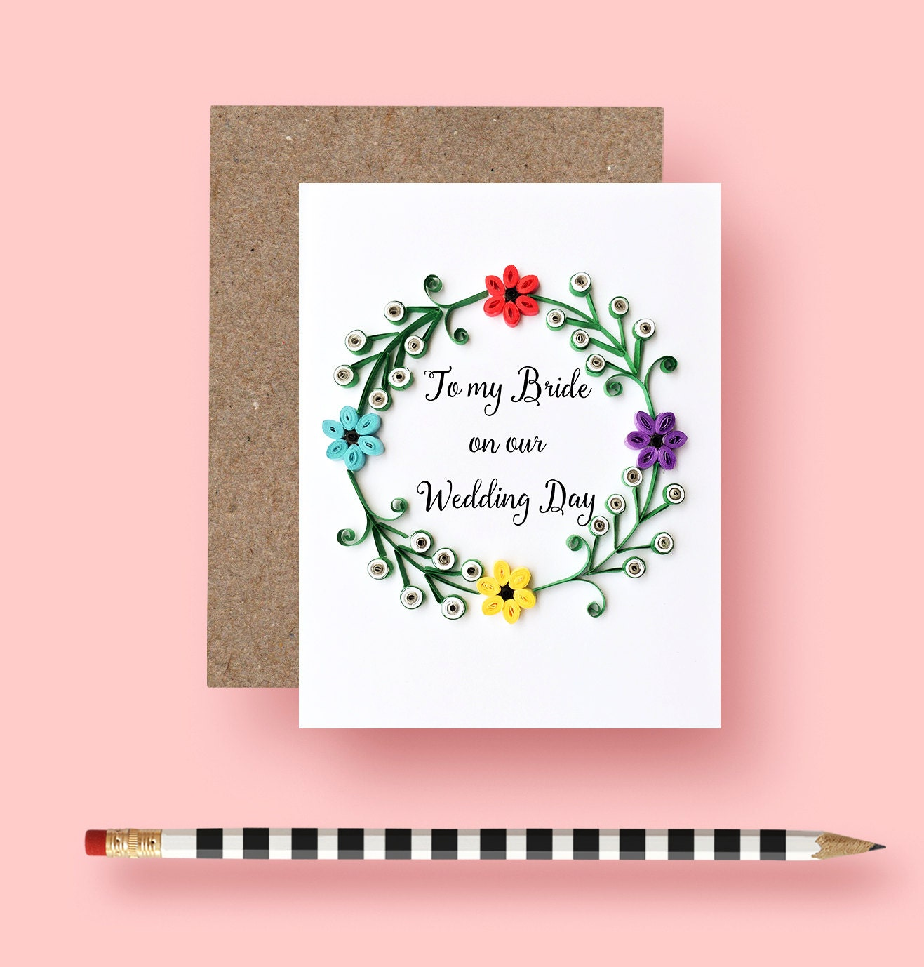 Valentine present. To My Bride On Our Wedding Day Card | Etsy