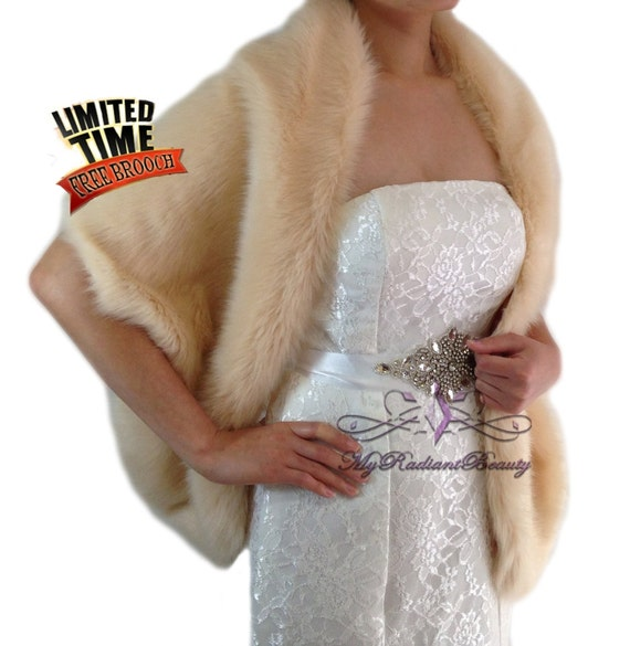 bambino Più votati shopping Faux Fur Stole, Champagne Faux Fur Shawl, Fur Cape, Faux Fur Shrug, Bridal  Fur Wrap, Bridal Wrap, Fur Stole, Bridal Fur Shrug LW108-CPN