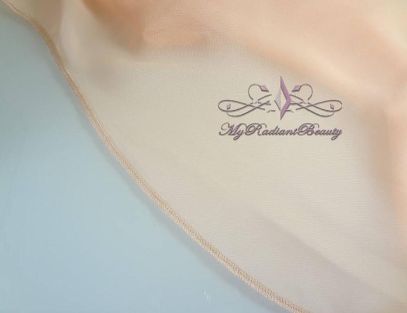 Chiffon Scarf LCJ108-APRICOT Chiffon Bolero Blush Peach Jacket Bridal Bolero Wedding Apricot Bolero Bolero Wedding Shrug Shrug Bolero