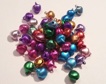 Charms, Bells,  Jingle Bells, Christmas Ornaments/ Charms/Pendants/Decor - 100pc - 6mm - Aluminum