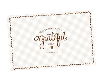 Paper Placemats | Grateful Heart