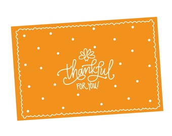Paper Placemats | Thankful for You