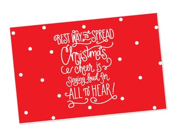 Paper Placemats | Christmas Cheer