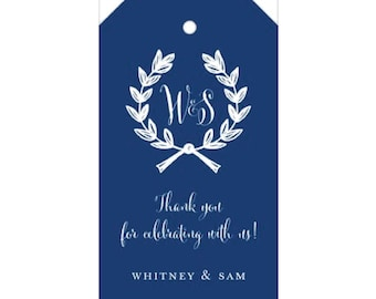 Wreath Tag in Navy - Personalized!