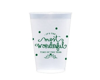 Plastic Cup | Most Wonderful Time of the Year (hunter green)