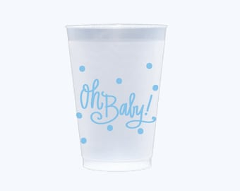 Oh Baby! (blue) | Frosted Flex Cups - 12 oz.