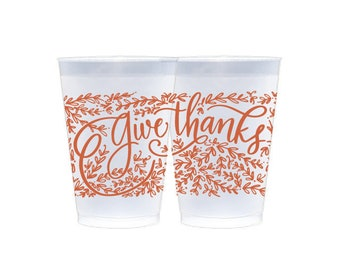 Reusable Cup | Give Thanks (pumpkin)