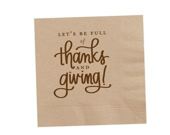 Napkins |  Thanks & Giving