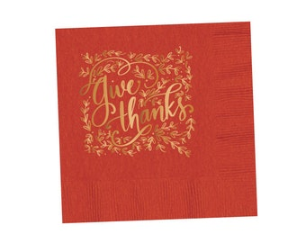 Napkins | Give Thanks (pumpkin)
