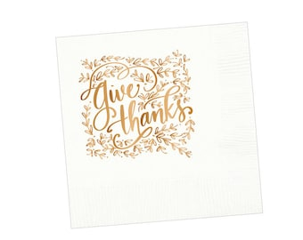 Napkins | Give Thanks (white)