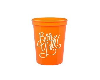 Boo Y'all  | Plastic Stadium Cups (no lids/straws)