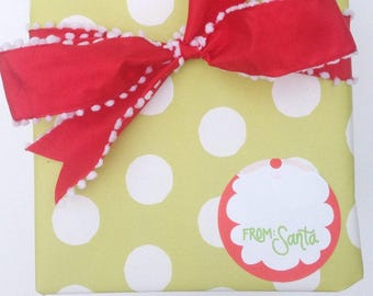 Gift Stickers | from Santa  (Qty 24)