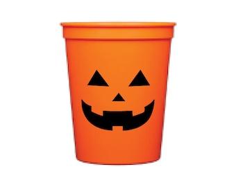 Plastic Cups | Jack-o-lantern (Qty 8)