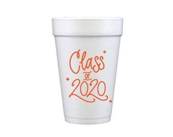 2020 Graduation | Foam Cups - ORANGE INK (in-stock!)