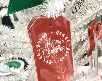 Wreath Red Gift Tag (Qty 5)