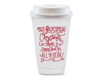 To-Go Coffee Cups | Christmas Cheer