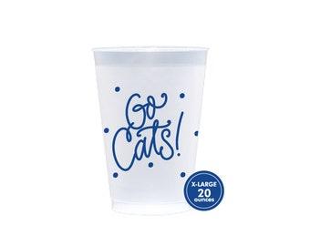 GO CATS   Reusable Flex Cups - Large! 20 oz. (blue)