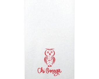 Chi Omega | Linun Guest Towels (Qty 25)