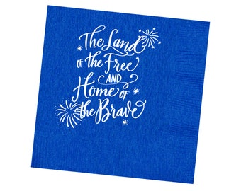 Napkins | 4th of July (blue)