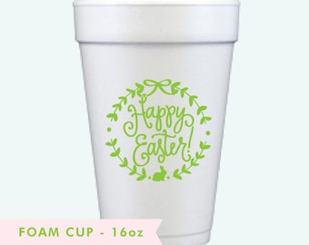 Happy Easter! | Foam Cups (lime green)