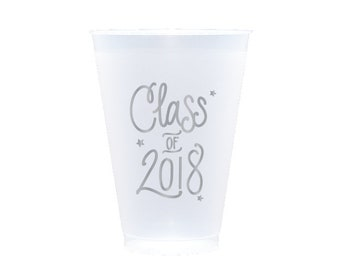 Graduation Reusable Cups - SILVER INK (in-stock!)