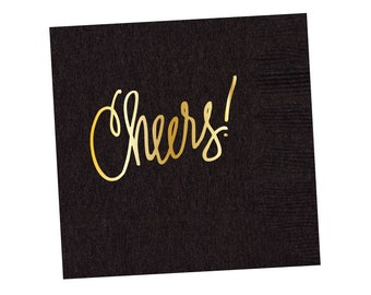 Napkins | Cheers - Black (in stock)