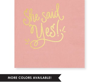 She Said Yes! Napkins (Qty 25)