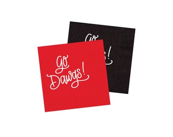 GO DAWGS | Napkins (red or black)