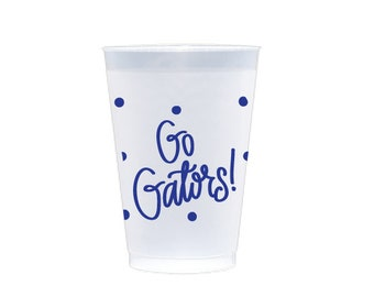 GO GATORS | Reusable Flex Cups (blue)