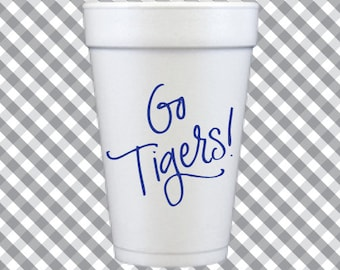 Tigers Foam Cups (Qty 12)