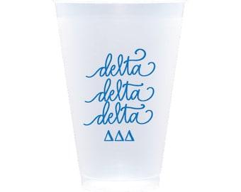 Delta Delta Delta - Reusable Shatterproof Cups (Qty 12)