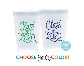 2020 Graduation | Frost Flex Cups  (20 oz. - Large!) - Choose YOUR Color!