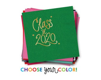 2020 Graduation | Napkins - Choose YOUR Color!
