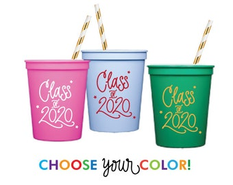 2020 Graduation | CUSTOM COLOR Stadium Cups - Choose YOUR Color!