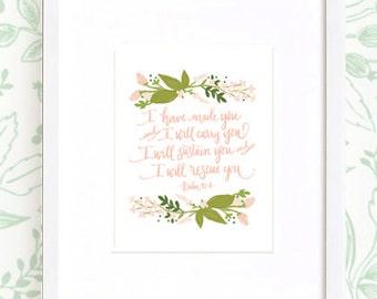 Psalm Verse  : Art Print