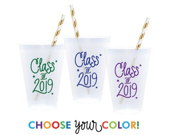 Graduation Reusable Cups | Choose YOUR Color!