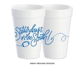 Foam Cups | Saturday's in the South (blue)