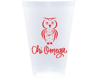 Chi Omega | Reusable Plastic Cups (Qty 12)
