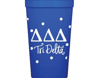 Tri Delta  Stadium Cup with Dots