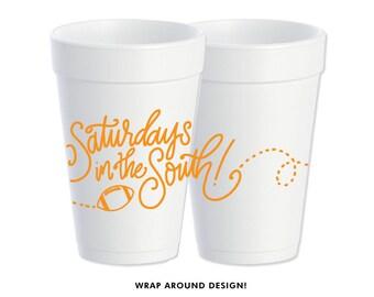 Foam Cups | Saturday's in the South (orange)