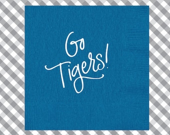 Tigers Napkins (Qty 25)