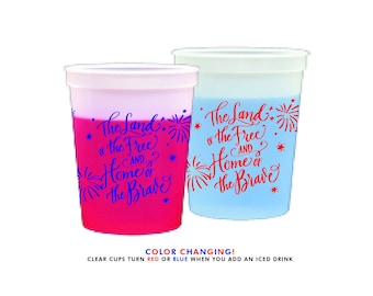Color Changing Cups | 4th of July (red and blue)