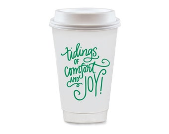 To-Go Coffee Cups | Comfort & Joy (green)