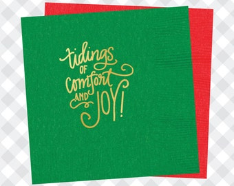 Tidings of Comfort and Joy Napkins (Qty 25)