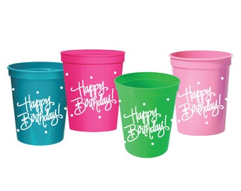 Stadium Cups   Happy Birthday!