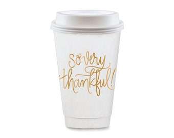 To-Go Coffee Cups | So Very Thankful (gold)