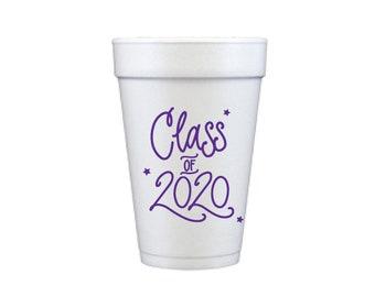 2020 Graduation | Foam Cups - PURPLE INK (in-stock!)