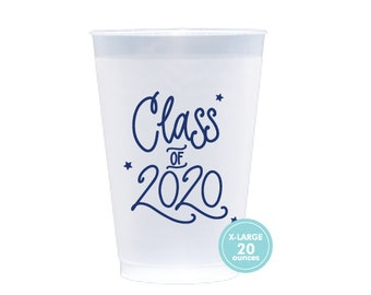 2020 Graduation | Frost Flex Cups (20 oz. - Large!) - NAVY INK (in-stock!)