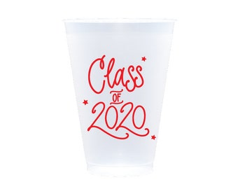 2020 Graduation | Frost Flex Cups (12 oz.) - RED INK (in-stock!)